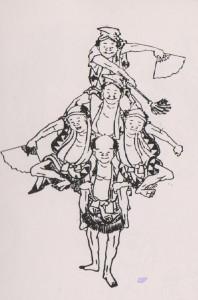 kleiner hokusai acrobaten